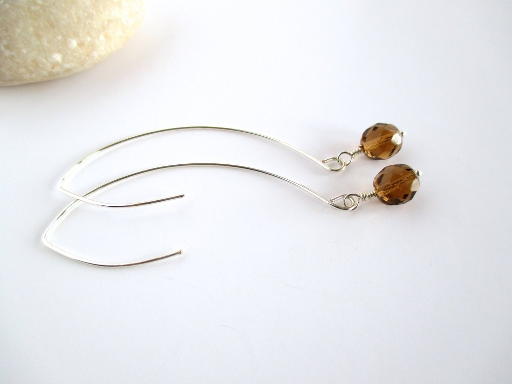 Topaz  Marquise Earrings