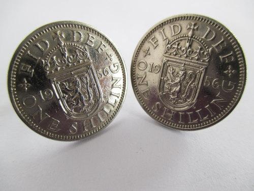 1956 Mens Coin Cufflinks