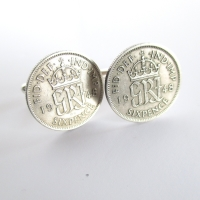 1948 Silver Sixpence Coin Cufflinks