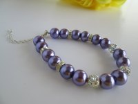 Purple Bridal Bracelet