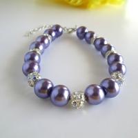 Purple Bridal Bracelet