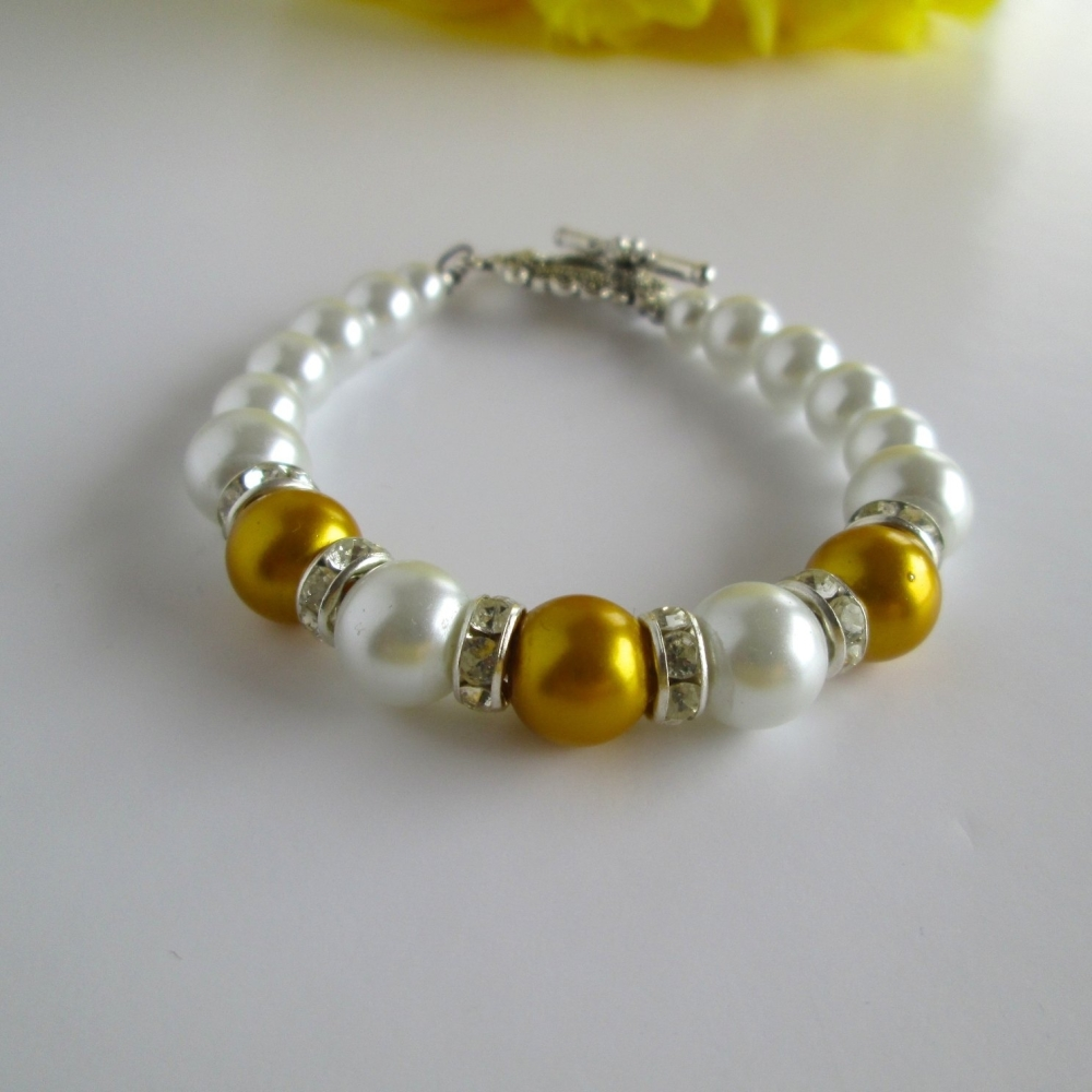 Gold Bridesmaid Bracelet