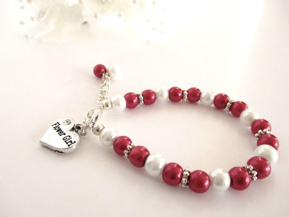 Personalised Flower Girl Bracelets