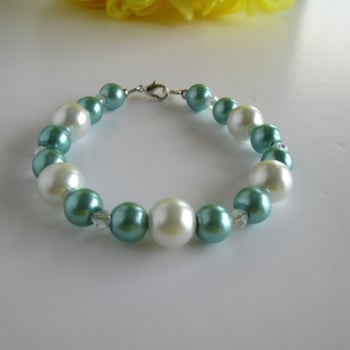 Green Pearl Bridesmaid Bracelet