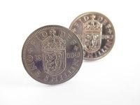 1966 English Coin Cufflinks