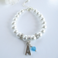 Bridesmaid Initial Bracelet