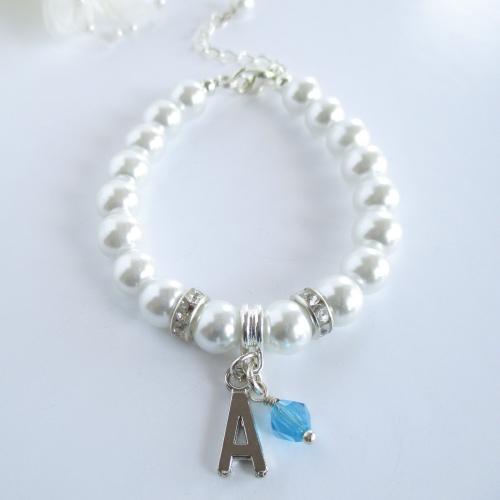 Initial Bridesmaid Bracelet
