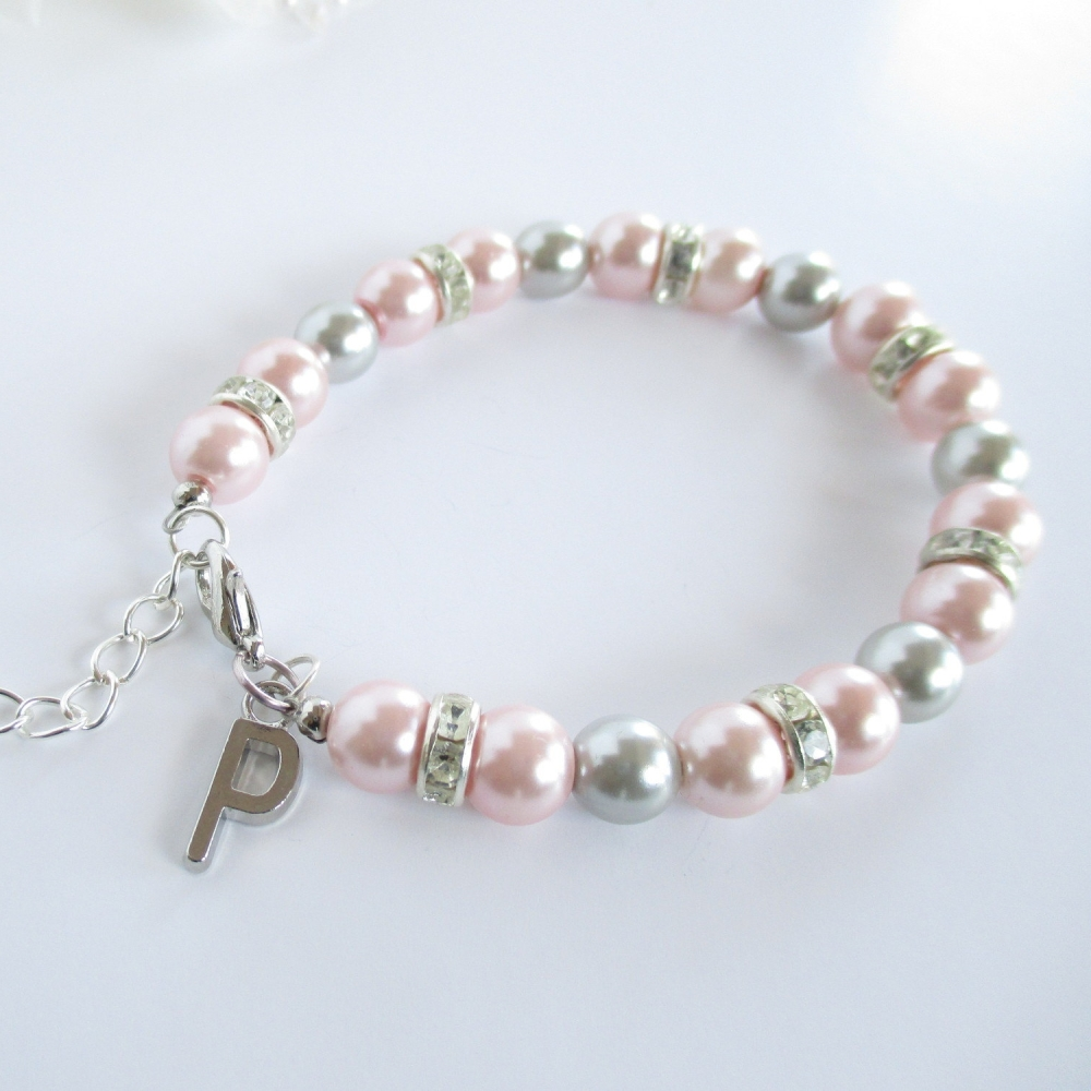 Personalized Initial Bridesmaid Bracelet