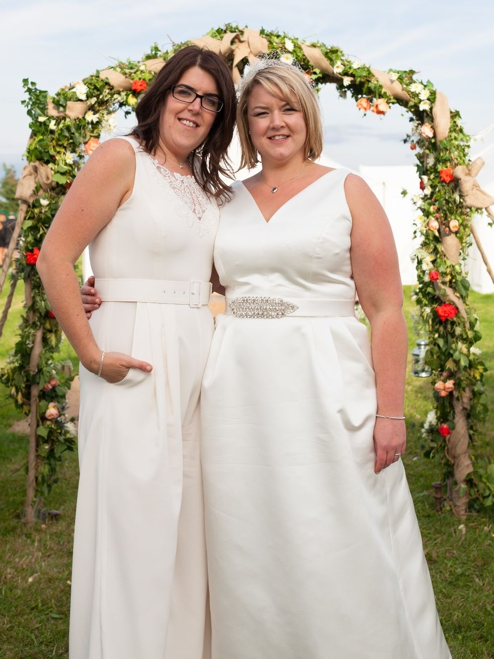 ivory wedding jumpsuit