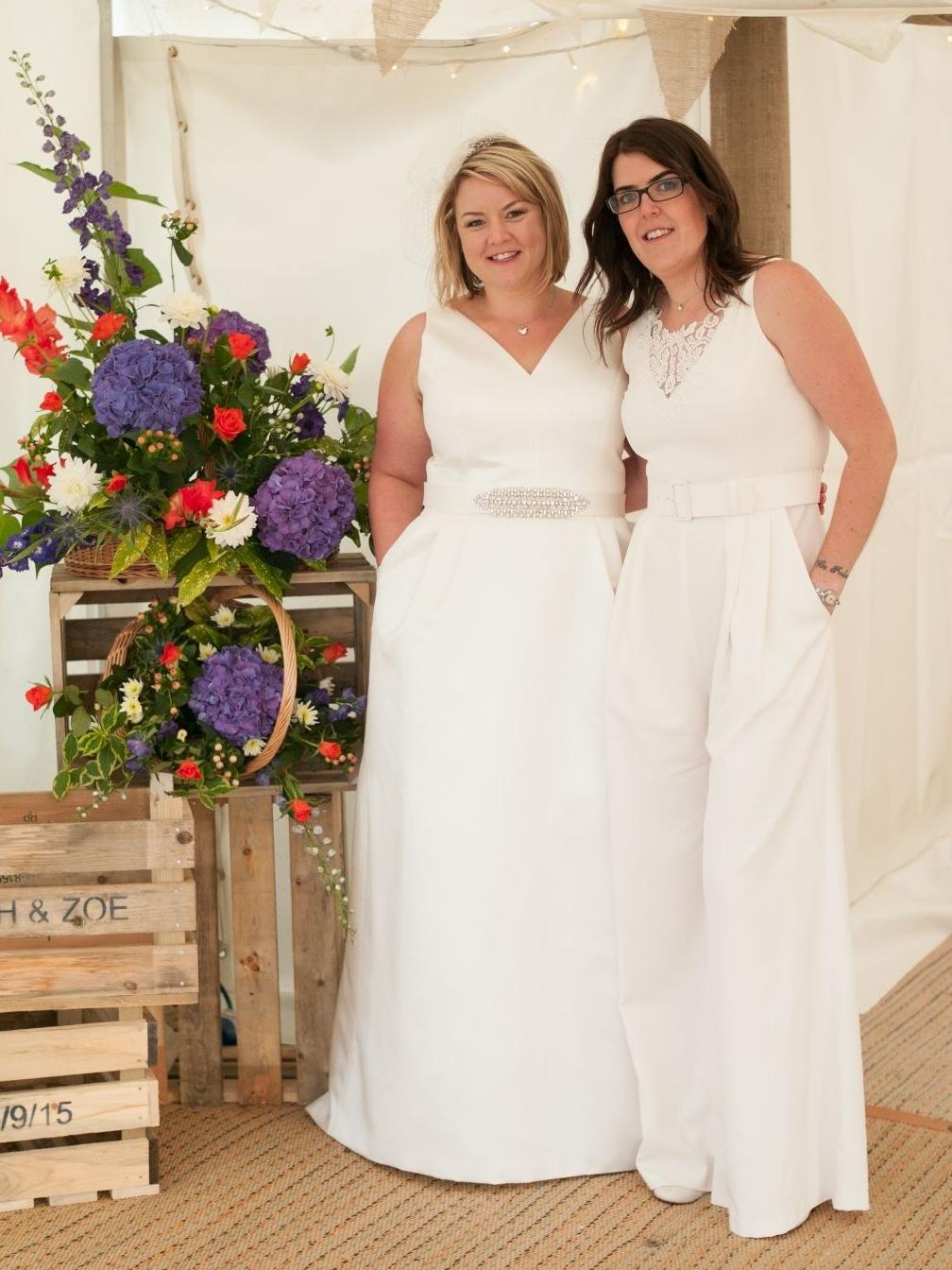 alternate wedding dress catsuit