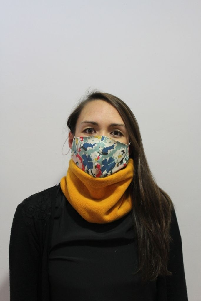 Mustard Neck Warmer with 2 x masks
