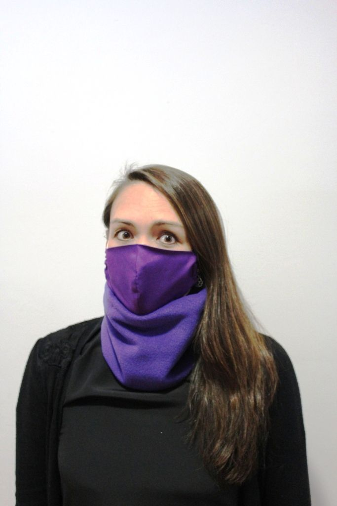 Purple Neck Warmer with 2 x masks