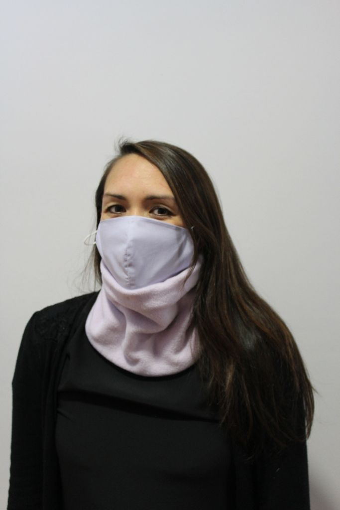 Lilac Neck Warmer with 2 x masks