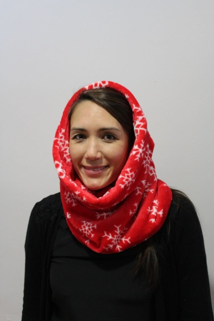 Red Snowflake Snood with 2 x masks