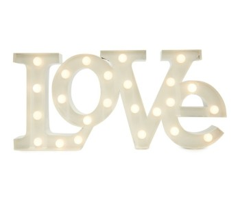 love illuminated sign
