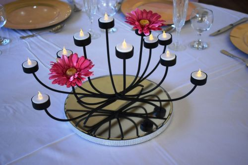 Black Tea-light Candelabra