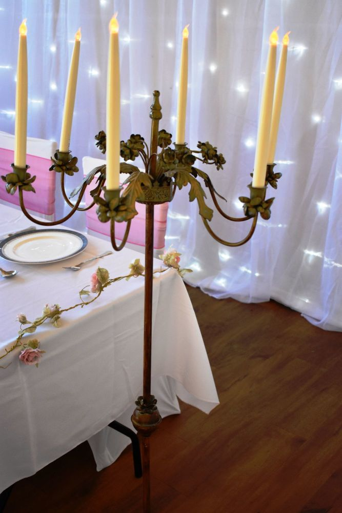 Ornate Metal Candelabra
