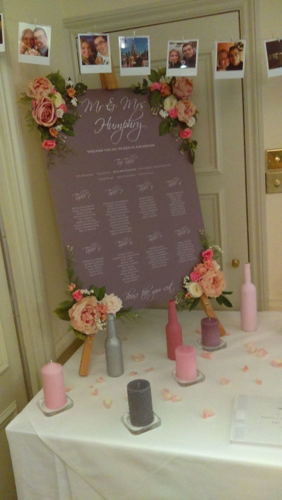like floral table plan easel