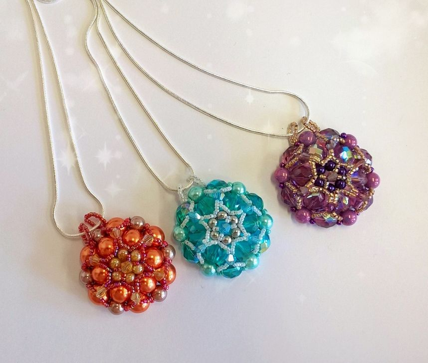 Beaded pendants from Hippidippies