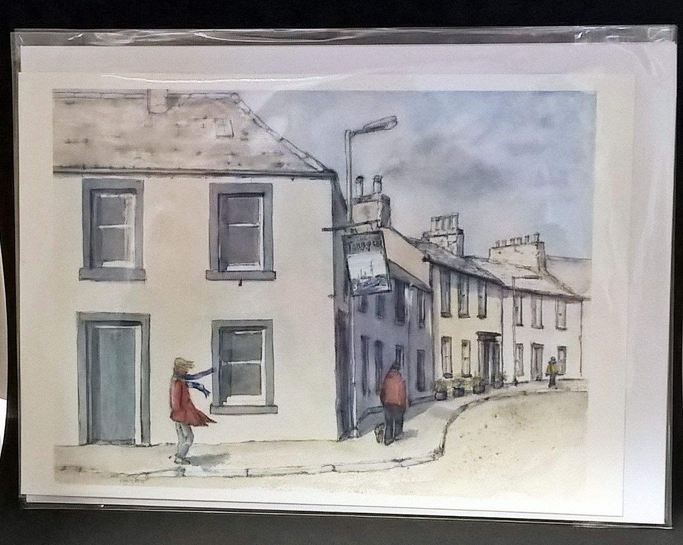 Art card by Mary Arnold Harbour Inn Garlieston