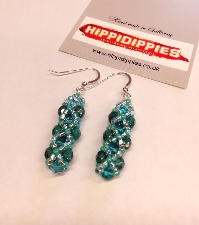 Earrings Turquoise FP beads
