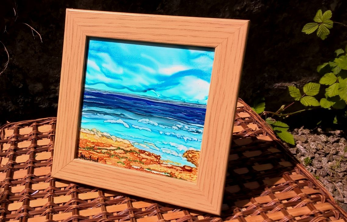 SOLD AL Framed Galloway Shores