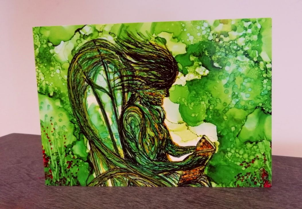 Blank art card The Willow Woman
