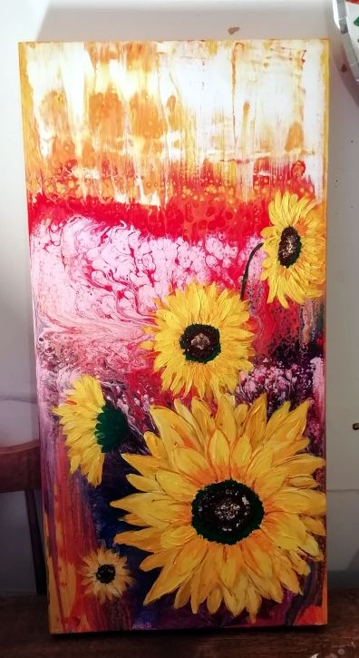Sunflowers Acrylic on canvas