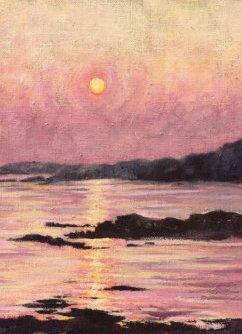 Lyns Purple Light, Oil on Linen