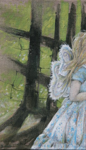 Fairy Leaving, Oil on Linen
