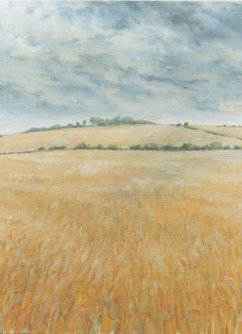 September Fields, Oil on Canvas