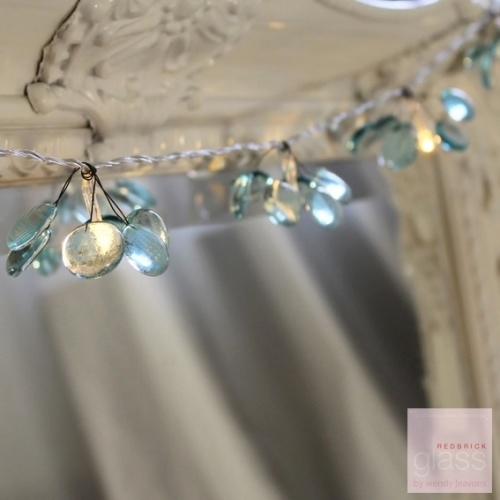 'Forget Me Not' glass fairy lights
