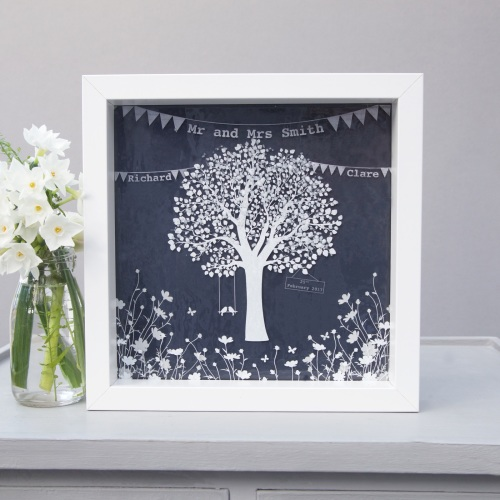 Glass love birds tree