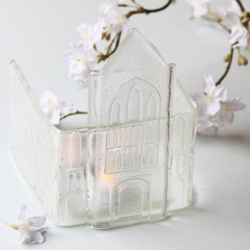 Personalised glass church - custom made