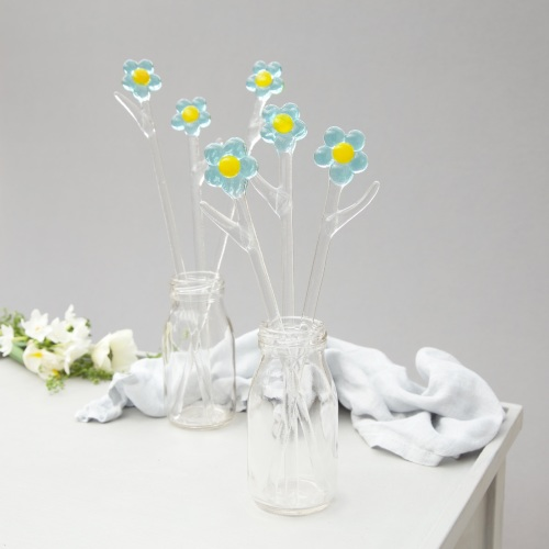 Glass Forget Me Nots.