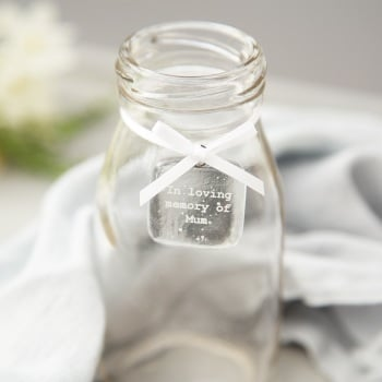 In loving memory glass tag