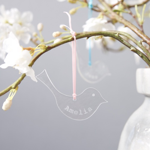 Personalised glass bird
