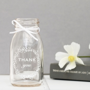 Thank You mini glass bottle