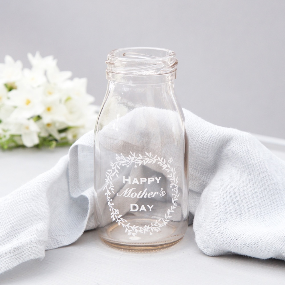 Happy Mother's Day mini glass bottle