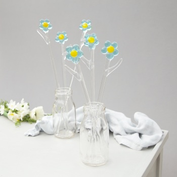 Glass Forget Me Nots