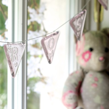 Personalised glass bunting