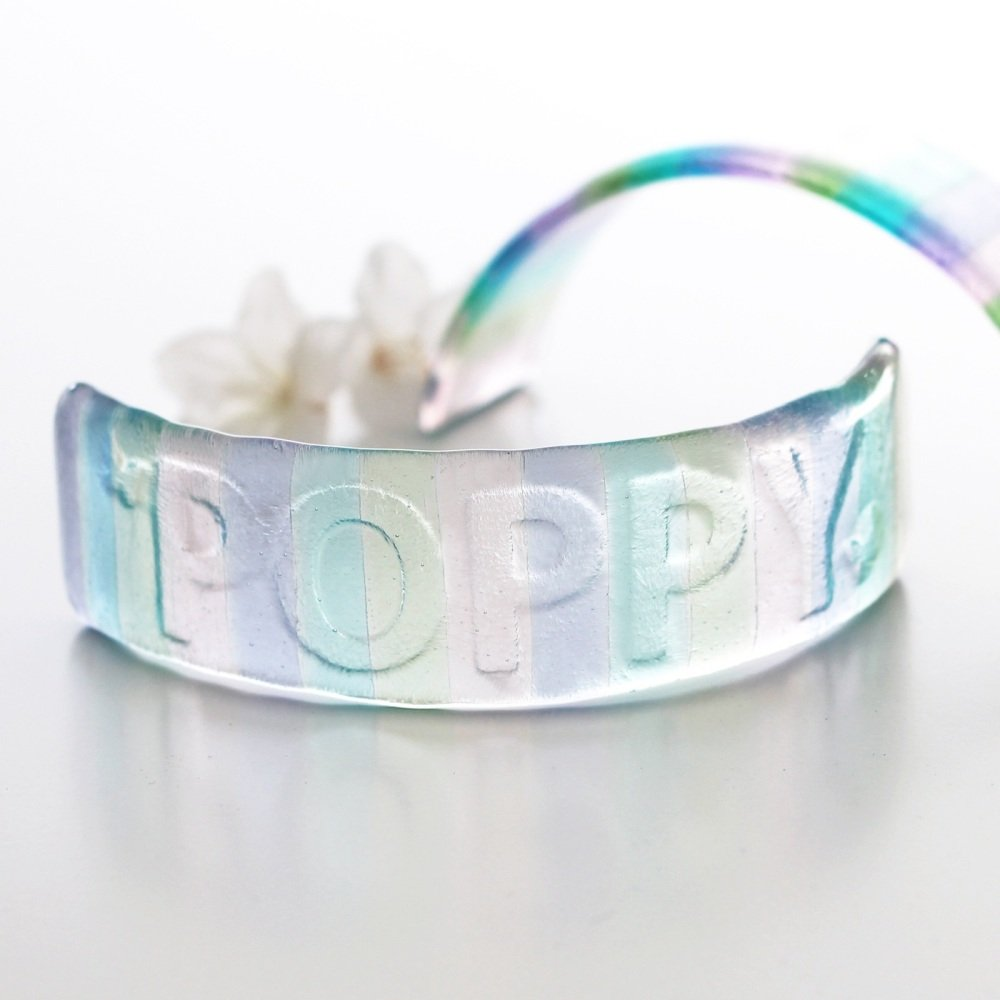 Personalised glass rainbow