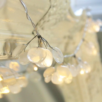 'Snow Drops' glass fairy lights