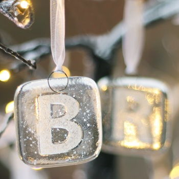 Personalised initial Christmas decorations