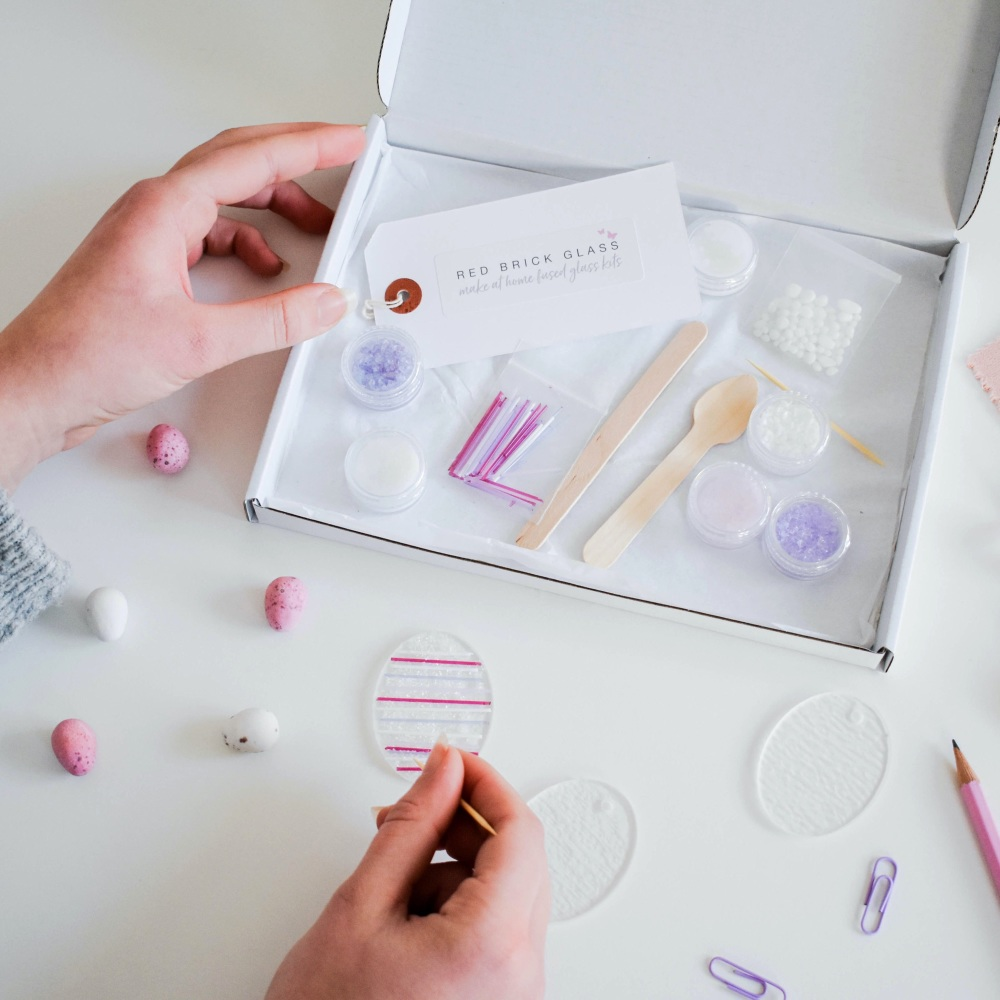 Make At Home Fused Glass Kit - Easter Egg decorations (multiple colour opti