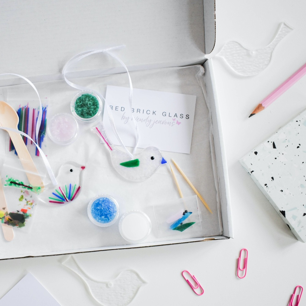 Make At Home Fused Glass Kit  - Paradise bird