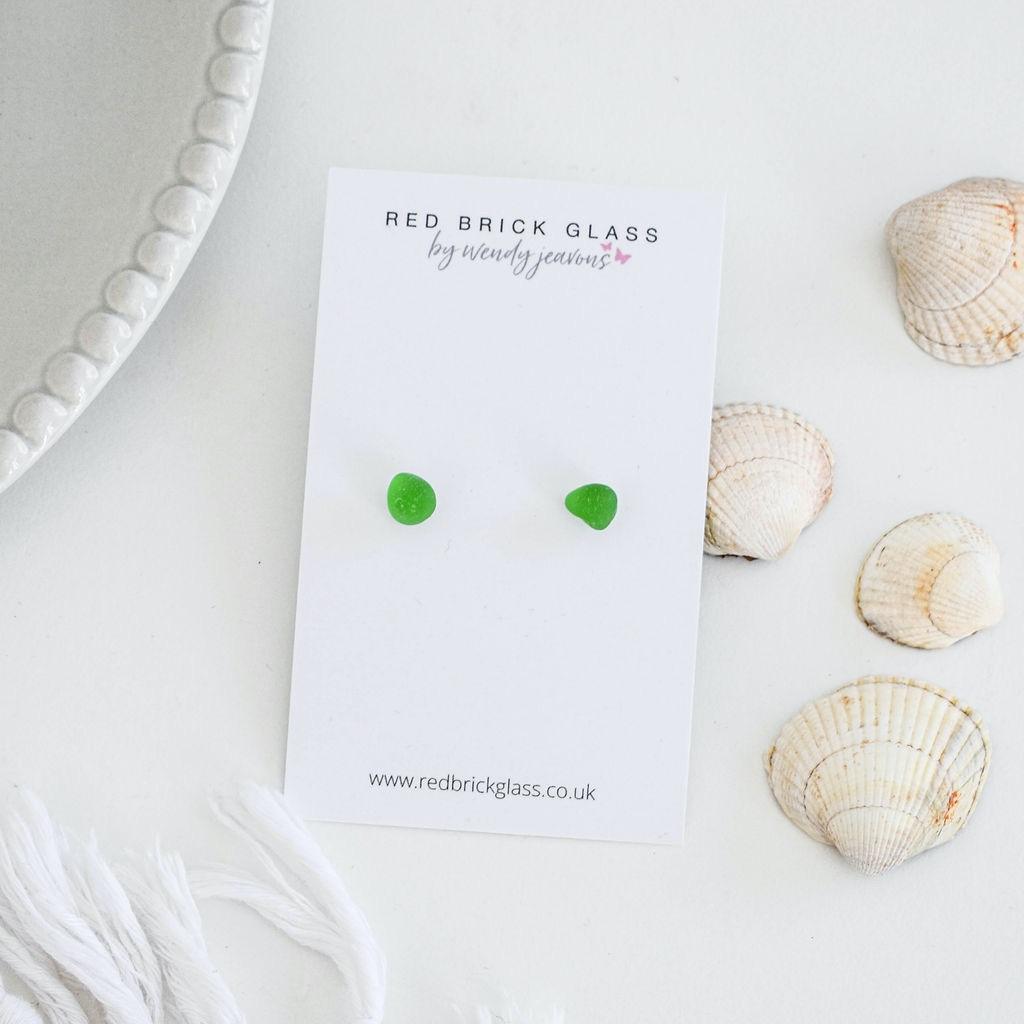 Sea Glass stud earrings