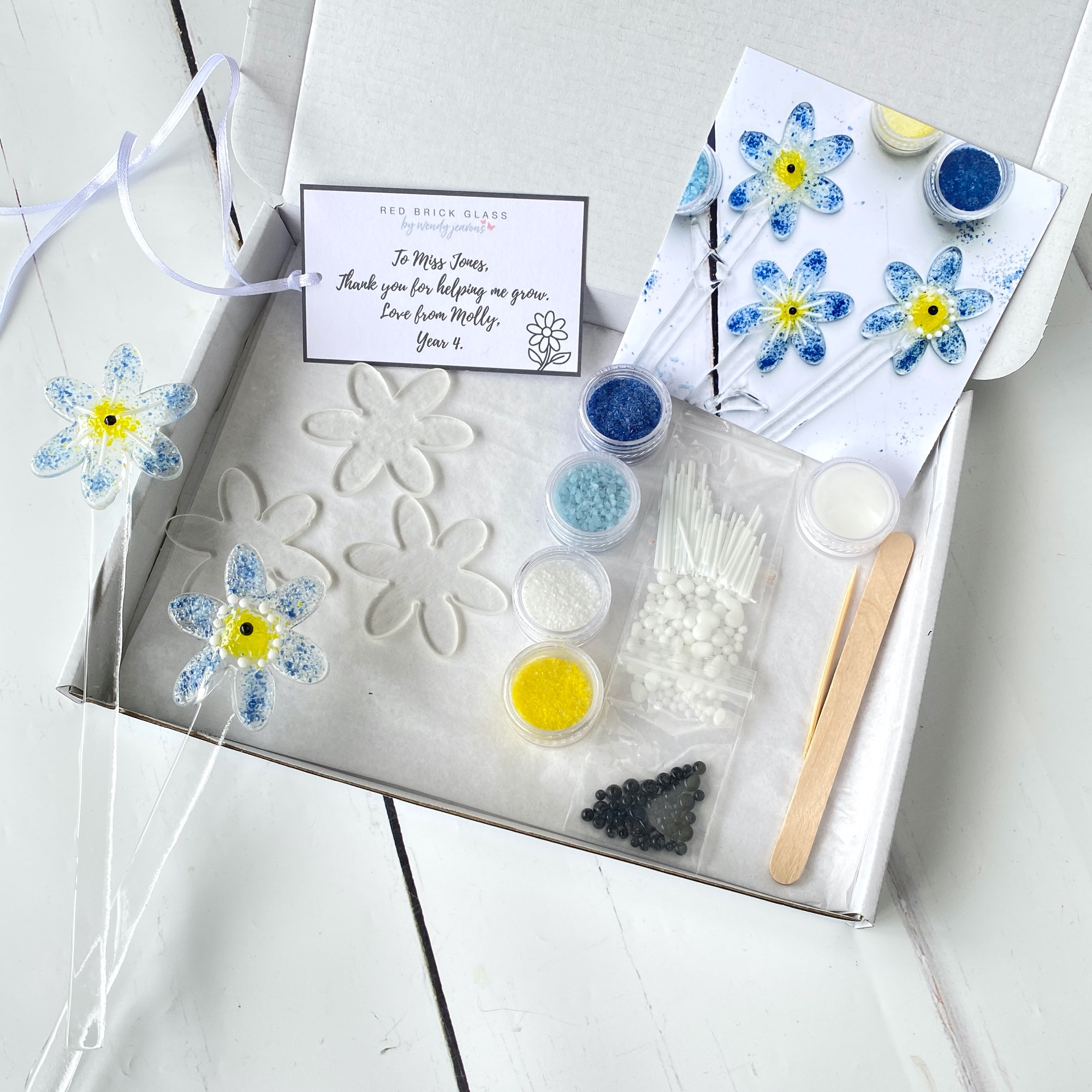 Make at home fused glass kit Daisy
