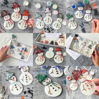 Fused glass kit - Snowman (multiple colour options)
