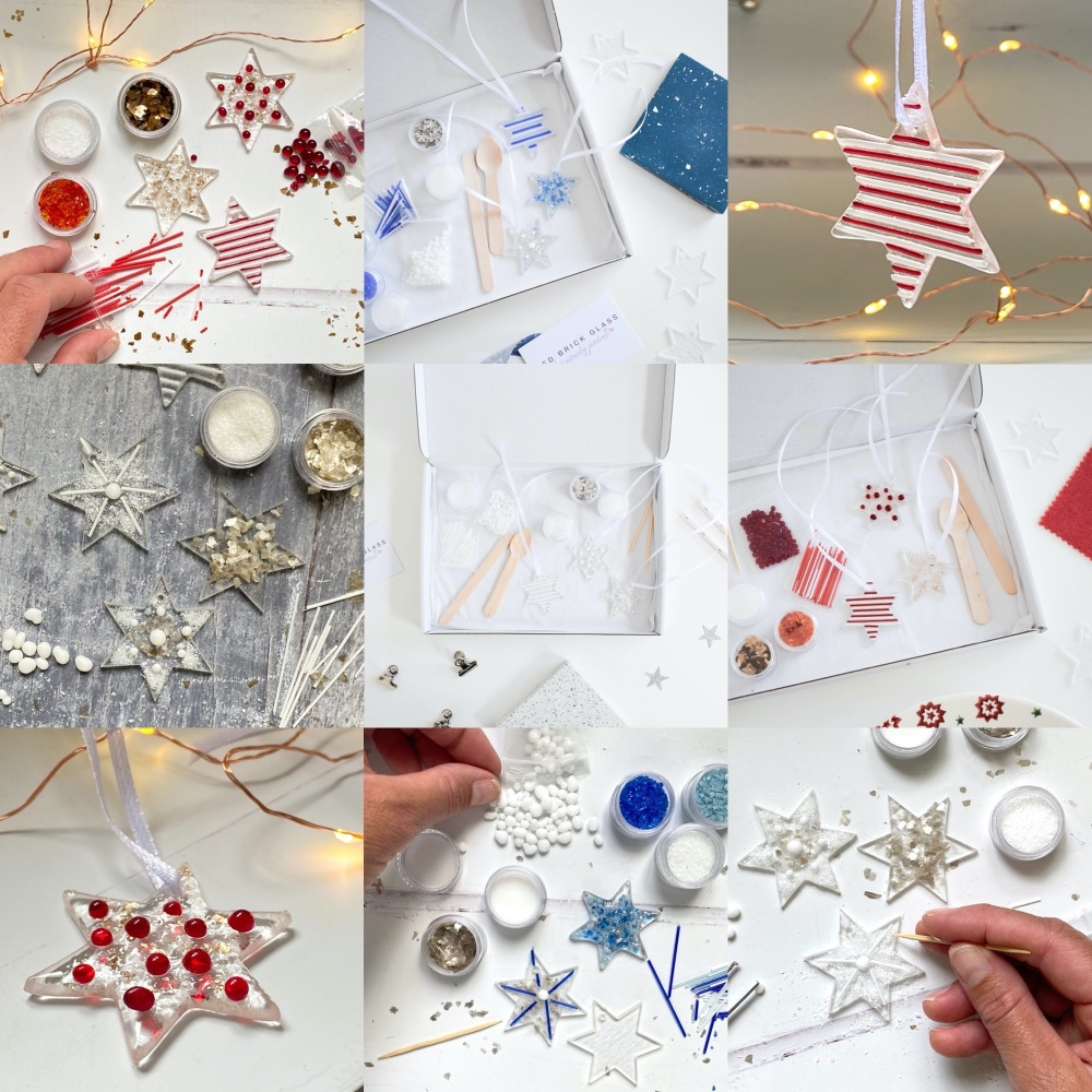 Fused Glass Kit - Small glass stars (multiple colours options)